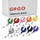 GOGO 100PCS Solid Color ID Card Badge Holder Reel For Nursing