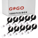 GOGO 1000/Pack Round Wholesale Nursing Badge Holder Lanyard Reels