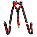 TopTie Plaid Suspenders & Bow tie Set