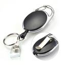 GOGO Carabiner Badge Holder Reels With Back Splint and Key Ring