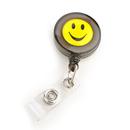 Officeship Black Smile Face ID Card Reels 100 PCS Nursing Badge Holder