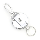 Officeship Silver Color Metal Retractable Reel With Belt Clip, Belt Loop Clasp & Key Ring 3PCS