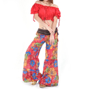 BellyLady Women Crinkle Crop Top For Belly Dance, With Adjustable Drawstrings
