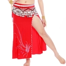 BellyLady Belly Dance Tribal Slitted Skirt With Rhinestone