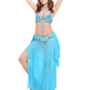 Wholesale BellyLady Professional Belly Dance Costume, Fringe Bra, Waist Belt and Skirt