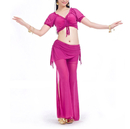 BellyLady Practice Belly Dance/Yoga Costume, Short Sleeve Top and Tribal Pants