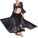 BellyLady Professional Full Belly Dance Costume, Tribal Wrap Top And Skirt Set