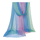 BellyLady Belly Dance Chiffon Veil Scarf For Belly Dancers, Blue/Green/Pink