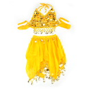 BellyLady Children Belly Dance Costume, Yellow Halter Top & Skirt Set
