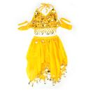BellyLady Children Belly Dance Costume, Yellow Halter Top & Skirt Set