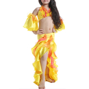 BellyLady Kid Belly Dance Costume, Halter Top, Cuffs And Lotus Leaf Skirt