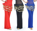 BellyLady Wholesale Lots Of 3 Gold Coins Belly Dance Hip Scarves
