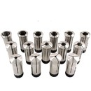 ABS Import Tools 15 Piece 5C Pro Quality Premium Round Collet Set (1/8-1 Inch X16Ths)