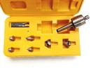 ABS Import Tools 9 PIECE MT3 MULTI-SHAPE INTERCHANGEABLE TIP LIVE CENTER SET (3900-5021)