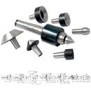 ABS Import Tools MT4 7 PIECE INTERCHANGEABLE BULL NOSE LIVE CENTER SET (3900-5054)