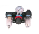 ABS Import Tools 7600-1771 1/4 Npt Filter/Regulator - Lubricator 3 Piece Unit (Clear)