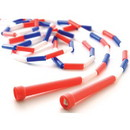 US Games 9' Segmented Skip Rope Red/White/Blue - 9' Red/White/Blue only