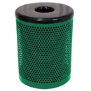 Ultra Play 32 Gallon Trash Receptacle Perforated - Perforated - Specify Color only