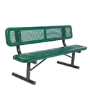 Ultra Play 6' Bench w/ Back - Portable Perforated - 6' Perforated only