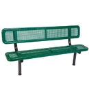 Ultra Play 8' Bench w/ Back - In-Ground Perforated