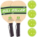 Pickle Ball Diller 2 Player Paddle & Ball Pack