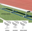 BSN Sports Players Benches without Back, 7 1/2', Surface Mount