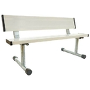 5' Portable Bench W/Back - White