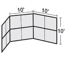 BSN Sports Chain Link Backstop-10' w/Hood-No Wings only