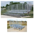 Bleachers with Vertical Picket Railing, 21', 4 Row, NB0421V