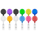 Muka 100 PCS Clear Retractable Badge Holder Retracting Card Reel Bulk Sale
