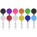 Muka 100 PCS Retractable Badge Holder Retracting Card Reel Bulk Sale Solid Color