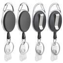 Muka 50 PCS Badge Reel Carabiner Retracting Clip for Nursing Security
