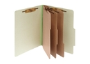 ACCO Pressboard 8-Part Classification Folders with PermClip Fasteners, Legal, Leaf Green, Box of 10, 16048