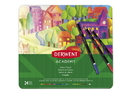 Derwent Academy Colored Pencils, 3.3Mm Core, Metal Tin, 24 Count, 2301938