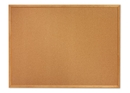 Quartet Cork Bulletin Board, 4' x 3', Oak Finish Frame, 304
