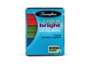 Swingline Color Bright Staples, Classic Color Assortment, 1/4