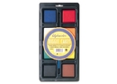 Quartet Alphacolor Biggie Cakes, Tempera Set, Assorted Colors, 8/Tray, 428003