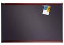 Quartet Prestige Plus Diamond Mesh Fabric Bulletin Board, 3' x 2', Gray with Mahogany Frame, 443M