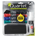 Quartet Enduraglide Dry-Erase Kit, Chisel Tip Dry-Erase Markers, Eraser, Spray Cleaner, 5001M-4SKA