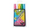 Quartet Glo-Write Fluorescent Markers, Wet-Erase, Assorted Colors, 5 Pack, 5090A