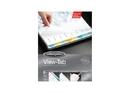Wilson Jones View-Tab Transparent Dividers, 8-Tab Set, Multicolor Square Tabs, 55020