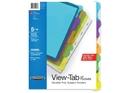 Wilson Jones View-Tab Transparent Dividers, Student Set w/Pocket, 5-Tab, Multicolor, 55082A
