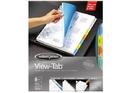 Wilson Jones View-Tab Transparent Dividers, 8-Tab Set, Square Multicolor, 5 Pack, 55567