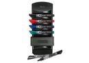 Quartet EnduraGlide Dry-Erase Marker Caddy, Chisel Tip, 6 Markers, Eraser Included, 559A