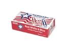 ACCO Nylon Coated Paper Clips, Smooth Finish, Jumbo Size, Red, White & Blue, 150/Box, 72542