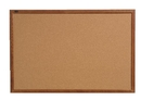 Quartet Cork Bulletin Board, 2' x 3', Oak Finish Frame, 85223B