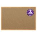 Mead Classic Cork Bulletin Board, 4' x 3', Oak Finish Frame, 85367