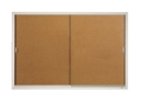 Quartet Enclosed Cork Bulletin Board for Indoor Use, 6' x 4', Sliding Door, Aluminum Frame, D2405