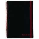 Black n' Red  Ruled Notebook (E67008)