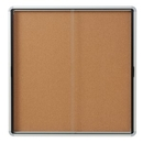 Quartet Enclosed Cork Bulletin Board for Indoor Use, 56